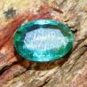 Batu Mulia Zamrud Hijau Indah Oval