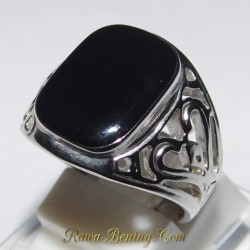 Cincin Pria Retro Filigree Ring 7US