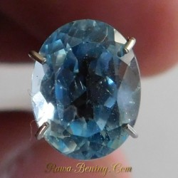 Batu Permata Natural Asli Bright Blue Topaz Oval Cut 2.50 Carat