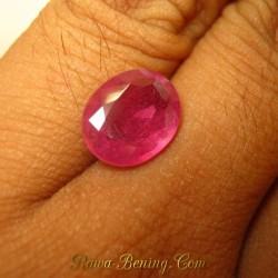 Memo Batu Permata Oval Orange Sapphire 4.58 Carat