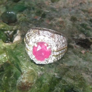 Cincin Batu Ruby Ring 8US
