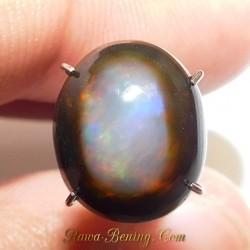 Batu Mulia Natural Black Opal Top White 3.20 Carat