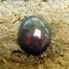 Batu Mulia Asli Black Opal Polos Imut 1.35 Carat