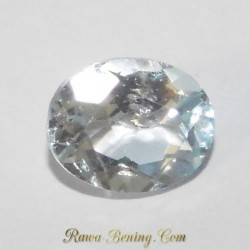 Batu Permata Asli Light Blue Topaz Oval 3.20 Carat
