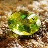 Batu Permata Oval Olive Green Peridot 1.25 Carat