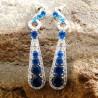 Batu Permata Anting Gold Filled Royal Blue