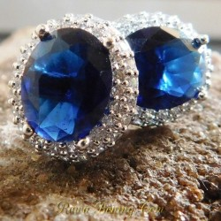 Anting GF 18K Biru Elegan