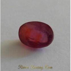 Batu Permata Asli Orange Red Sapphire 4.67 Carat