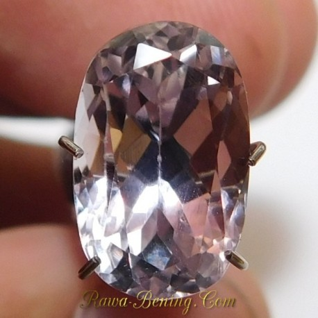 Batu Permata Purplish Pink Kunzite 4.88 Carat