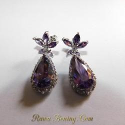Batu Permata Anting Purple Star GF 18K