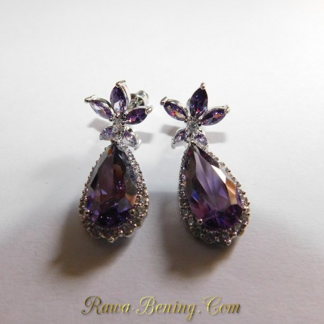 Batu Permata Anting Purple Star GF 18K