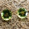 Batu Permata 2 Pcs Round Olive Green Peridot 5mm 1.80 Carat