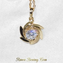 Kalung Zircon CZ Gold Filled 18K 1.00 Carat