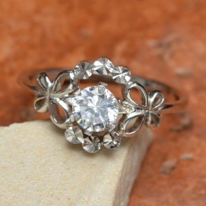 Solid Silver Wedding Ring Size 7.25 US