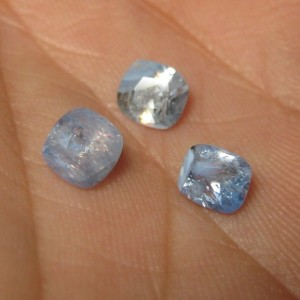 Safir Srilanka Light Blue 3 pcs 2.5 cts