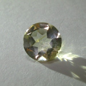 Round Light Yellow Citrine 1.18 carat