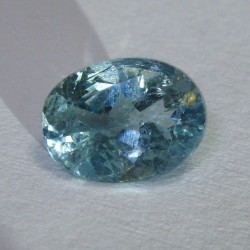 Greenish Oval Blue Topaz 1.08 cts