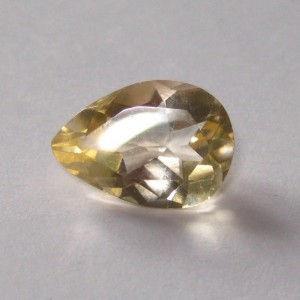 Medium Yellow Citrine Pear Shape 2.12 cts