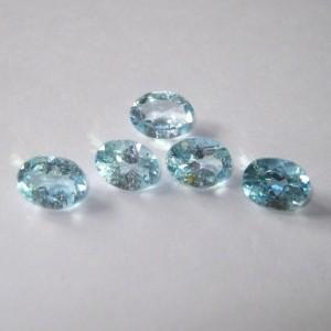 5 Pcs Blue Topaz Oval 4.8 carat