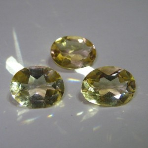 Trio Yellow Golden Citrine Oval 3 carat