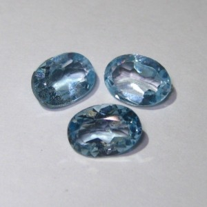 3 Pcs Oval Blue Topaz 2.80 cts