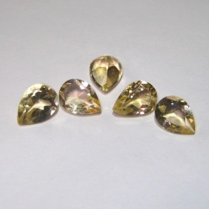 5 Pcs Pear Shape Yellow Citrine 3.3 cts