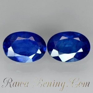 Batu Safir 2 Pcs Warna Royal Blue