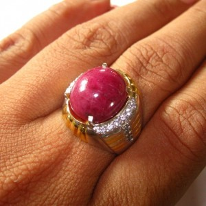 Cincin Natural Ruby 15.96 cts