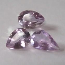 3 Pcs Pear Shape Amethyst 4.3 cts