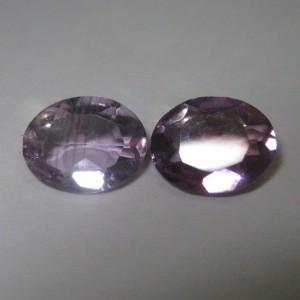 Batu Couple Amethyst Oval 3.2 cts untuk Pasangan Serasi