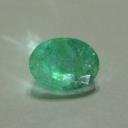 Oval Green Natural Emerald 0.99cts Rich Green
