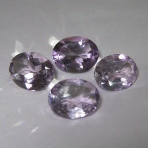 4 Pcs Batu Kecubung Oval 5.2 cts untuk stok jualan toko perhiasan