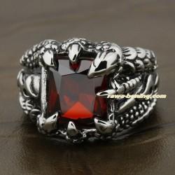 Cincin 7 Cakar Naga Merah Ring 8Us