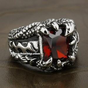 Cincin Sterling Silver Slash Style Ring Size 7US