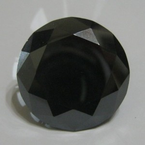 "Black Moissanite 40 carat ""Black Diamond"""