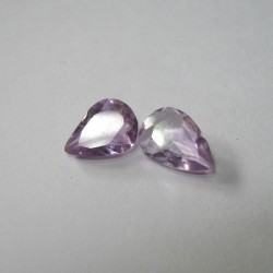 2 Pcs Light Purple Amethyst 2cts Batu Mulia Asli dari Brazil