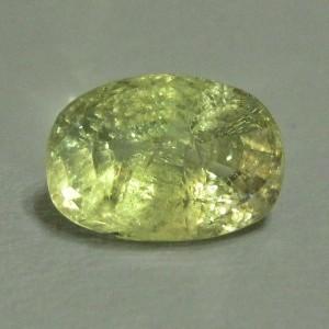 Greyish Green Sapphire 3.09 cts
