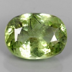 Rutilated Natural Green Peridot 3.17 cts