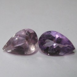 2 Pcs Natural Amethyst 2.80 carat