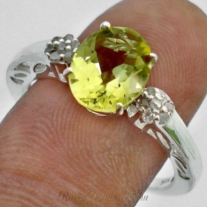Cincin Lemon Topaz Ring 7