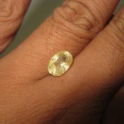 Natural Yellow Sapphire 2.68 cts untuk cincin yang agak mewah