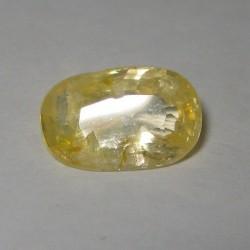 Permata Safir Kuning 2.65 cts Bercahaya Keemasan