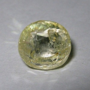 Natural Light Yellow Sapphire 3.44 cts