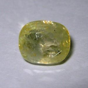 Greyish Yellow Sapphire 3.41 cts
