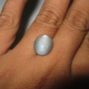 Greyish Moonstone Cat Eye 6.70 cts