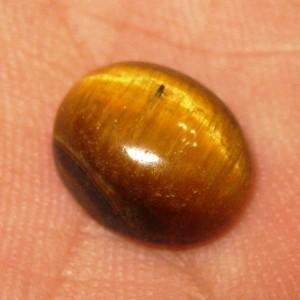 Batu Tiger Eye 3.45 carat luster tajam dan rapih di tengah