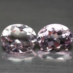 Batu Kecubung Pasangan Ungu Pink 5.04 carat
