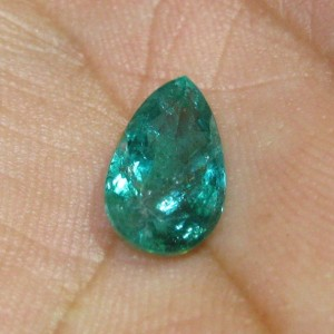 Pear Shape Emerald 2.01cts Blinking Luster