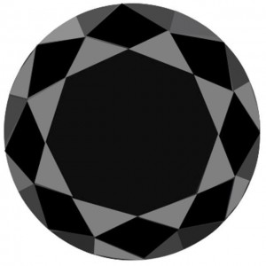 Black Moissanite 46.4 carat Kualitas setara AAA