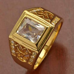 Cincin Pria Ring 11 Gold Plated
